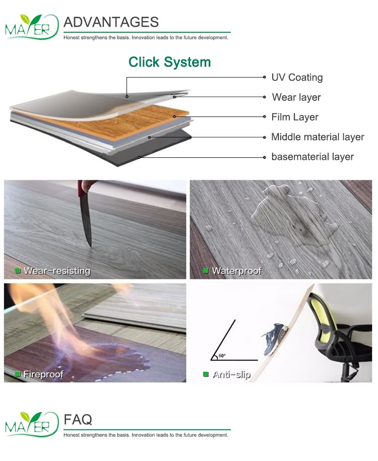 Higher quality Easy installation LVT flooring Self-Adhesive floor plank flooring